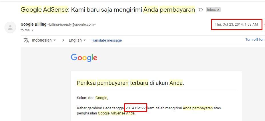 pembayaran google